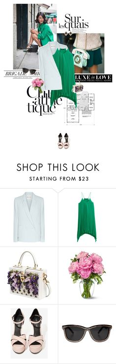 """I love you, green."" by sa3ina ❤ liked on Polyvore featuring Reiss, H&M, Dolce&Gabbana, Alexander Wang and Erickson Beamon"