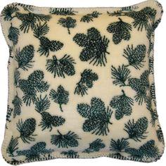 Winter Cones Throw Pillow