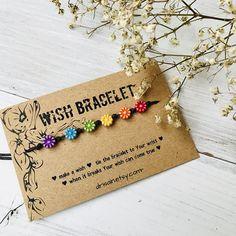 Friendship bracelet, BFF wish bracelet, rainbow bracelet, flower bracelet, make a wish bracelet, best friends string bracelet, cord bracelet