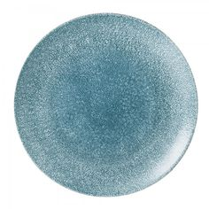 Churchill RAKU Studio Prints Coupe Plate Topaz Blue Teller Porzellan 16,5cm blau