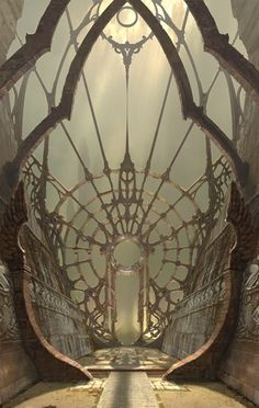 Portal.... a little like a cutaway sunken galleon with a gateway vaguely reminiscent of a clockface.