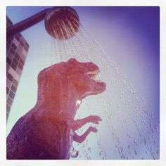 It was such a T-Hot day at the beach today!!! A Iced-T-Shower is definitely what he needs, T-Friends! T-☀☀☀