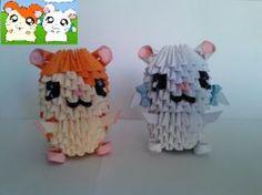 Hamtaro e bijou Origami 3d by Sfa87