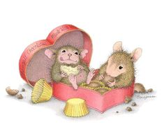 This is one of artist Ellen Jareckie's 8 newest images to her line of whimsical mice, House-Mouse Designs®. It features Mudpie & Amanda. You can click on the image to go to a wonderful gallery of products it is currently available on.