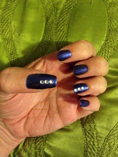 """China Glaze """"Want My Bawdy"""" with crystals."""