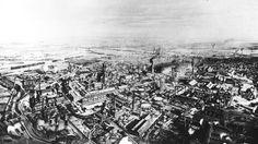 Lithografie der Krupp-Werke in Essen von 1879. | Bildquelle: akg