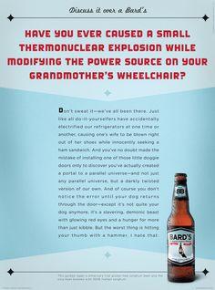 Bard's Beer: DIY #ad #print #copywriting Agency: Hunt Adkins ECD/Writer: Doug Adkins ACD/Art director: Briana Auel