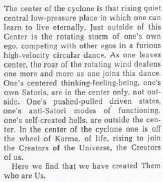 john c lilly . the center of the cyclone