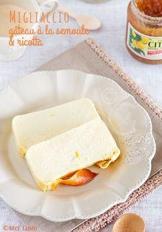 Un délicieux genre de gâteau / flan à la ricotta, semoule parfumé aux agrumes, citron, orange et limoncello … Un régal !