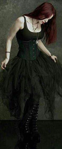 Goth add a blood red head band and im happy
