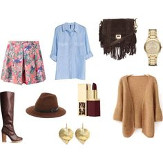 A fashion look from October 2014 featuring beige top, blue blouse and mini skirts. Browse and shop related looks. Floral Print Skirt, Floral Prints, Beige Top, Blue Blouse, Printed Skirts, Mini Skirts, Fashion Looks, Polyvore, Shopping