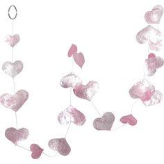 Hanging Heart String Garland in Pink