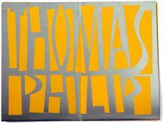 Typografisch geboortekaartje voor Thomas Philip. Grafisch Ontwerpers Arnhem
