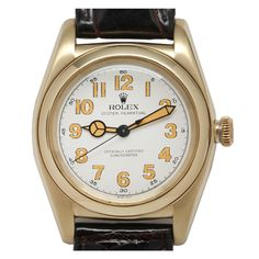 Shop luxury and designer wrist watches and other gold antique and vintage watches from the world's best jewelry dealers. Old Watches, Antique Watches, Vintage Watches, Watches For Men, Stylish Watches, Luxury Watches, Telling Time, Vintage Rolex, Clocks
