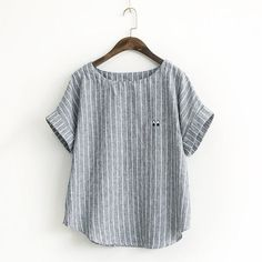 Buy Rosadame Striped Short-Sleeve Top at YesStyle.com! Quality products at remarkable prices. FREE Worldwide Shipping available!