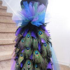 Costume peacock tutu dress