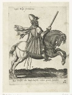 Nederlandse ruiter met karabijn, attributed to Abraham de Bruyn, 1577