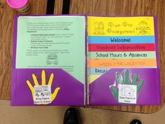First Week of School - Take Home folders and first week information