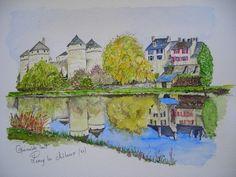 Lassay les Chateaux (53) - Les aquarelles de Guemalde