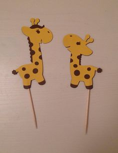 Cute giraffe cupcake toppers are perfect for any theme party
