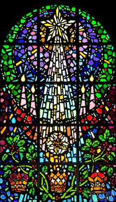 Foster Stained Glass - Faceted Glass Windows.  Christ United Methodist Church - Plano, TX.  Lynda B Smith