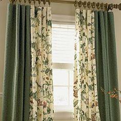 Devrais faire cela pour notre ccp, j'ai déjà les rideaux unis, il me manque le tissu fleuri, beige, blanc cassé et rouille !