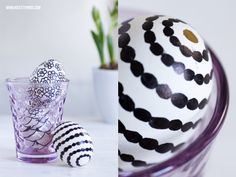 Painted Easter Eggs Decoration Black White Marimekko  Rym