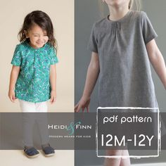 Pintuck Blouse and Dress PDF pattern and tutorial 12m-12y EASY SEW tunic dress jumper by heidiandfinn on Etsy https://www.etsy.com/listing/181306848/pintuck-blouse-and-dress-pdf-pattern-and
