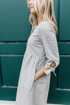 Spring Dress with Gathered Waist + Pockets | ROOLEE