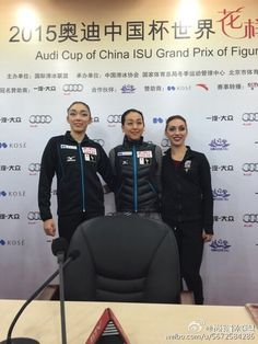With Rika Hongo(JAPAN) and Coutney Hicks(USA) : Cup of China 2015