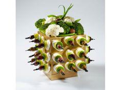 Cube architectural de courgettes et mozzarella - Lenôtre