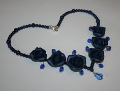 Polymer clay jewelry. Handmade polymer clay flower by Nattallinka