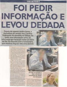 LEVOU DEDADA NO DETRAN/PE
