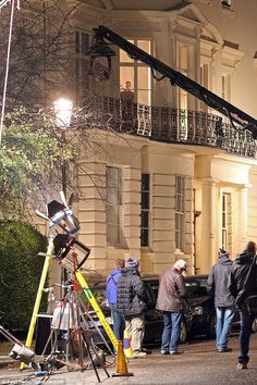 Capturing the moment: Beneath him, a film crew were assembled trying to capture his perfor... #jamesbond #spectre #007