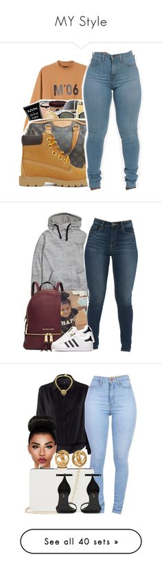 """MY Style"" by tathyanapamphile ❤ liked on Polyvore featuring beauty, Monki, Timberland, H&M, Michael Kors, adidas, Oasis, Yves Saint Laurent, Chanel and Birkenstock"