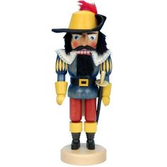 """Christian Ulbricht Musketeer Nutcracker by Brookstone. $167.99. Christian Ulbricht Musketeer Nutcracker. Christian Ulbricht, Musketeer Nutcracker Each Musketeer Nutcracker is hand crafted in a natural wood and hand finished, with close attention to detail. Made in Germany. Dimensions: Natural Musketeer Nutcracker - 5"""" L x 5"""" W x 16.5"""" H; Weight: 3.35 lbs. Green Musketeer Nutcracker - 5"""" L x 5"""" W x 16.5"""" H; Weight: 3.35 lbs. Blue Musketeer Nutcracker - 5"""" L x 5"""" W x ..."""