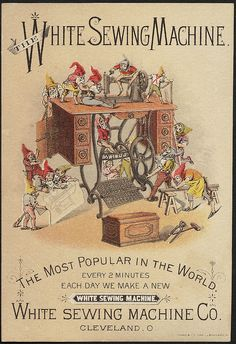 The White sewing machine. The most popular in the world. Every 2 minutes. Each day we make a new White Sewing Machine. (front) | Flickr - Ph...