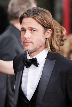 Brad Pitt on the red carpet of the 2012 Golden Globes.
