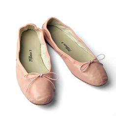 Pink Leather Ballet Flats from Porselli