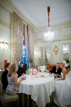 Real Weddings: The Plaza Athenée Marie Antoinette Room