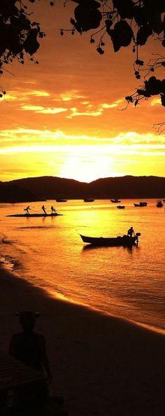 Sunset in Búzios, Rio de Janeiro, Brazil  #nature