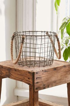 Cabo Rope Handles Basket - Urban Outfitters