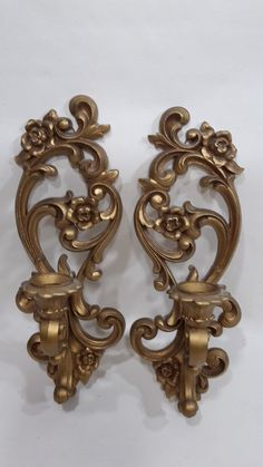Vtg 1971 Antique Gold Wall Sconce Candle Holder Ornate Syroco Homco 4118 for sale online Candle Holders, Dining Room Ceiling Lights, Ornate, Candle Holder Wall Sconce, Bedside Wall Lights, Candle Wall Sconces, Cottage Decor, Wall Sconces, Wall Fixtures