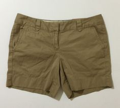 """Lands' End Women's Brown Canvas """"1963"""" Casual Shorts Size 4 NWT #LandsEnd #CasualShorts"""