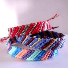 Handmade Striped Woven Friendship Bracelet by TheGringaHippie on Etsy