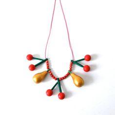 wooden necklace por pipapiep en Etsy