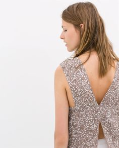 TOP WITH SEQUINS - Shirts - WOMAN | ZARA United States