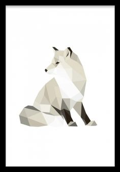 A cool poster with polygon patterns, of a fox. You can find more polygon posters in our graphic category, match with other designs in a collage. Fuchs Illustration, Graphic Design Illustration, Graphic Art, Polygon Pattern, Polygon Art, Desenio Posters, Fox Pictures, Kunst Poster, Animal Posters