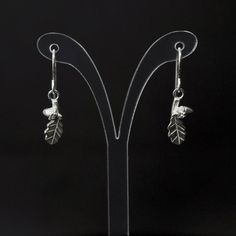 Sterling silver oak leaf & acorn drop earrings on your choice of ear wire type (including screw clips for non-pierced ears). Earring drops (excluding ear wire) are 12mm. See my other listings for a wide range of matching pieces. I am an award winning jewellery designer/maker and have been making Ear Earrings, Leaf Necklace, Bridal Earrings, English Gifts, Birmingham Jewellery Quarter, Jasper Conran, Bespoke Jewellery, Leaf Pendant, Acorn