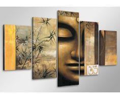 Buddha 5 Piece Graphic Art Wrapped On Canvas Set